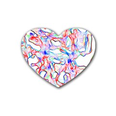 Soul Colour Light Heart Coaster (4 Pack)  by InsanityExpressedSuperStore