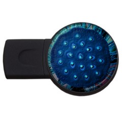 Blue Plant Usb Flash Drive Round (2 Gb)  by InsanityExpressedSuperStore