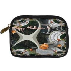 Creepy Pumpkin Fractal Digital Camera Cases by gothicandhalloweenstore