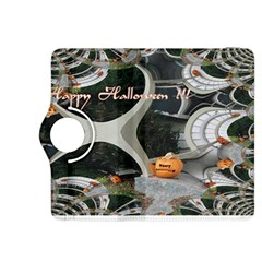 Creepy Pumpkin Fractal Kindle Fire Hdx 8 9  Flip 360 Case by gothicandhalloweenstore
