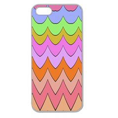 Pastel Waves Pattern Apple Seamless Iphone 5 Case (clear) by LalyLauraFLM