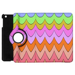 Pastel Waves Pattern Apple Ipad Mini Flip 360 Case by LalyLauraFLM