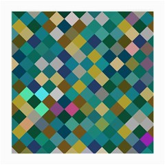 Rhombus pattern in retro colors Medium Glasses Cloth (2 Sides) by LalyLauraFLM