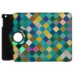 Rhombus Pattern In Retro Colors Apple Ipad Mini Flip 360 Case by LalyLauraFLM