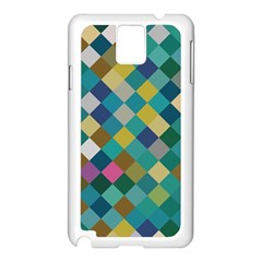 Rhombus Pattern In Retro Colors Samsung Galaxy Note 3 N9005 Case (white) by LalyLauraFLM