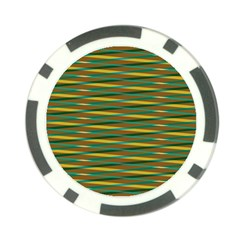 Diagonal Stripes Pattern Poker Chip Card Guard by LalyLauraFLM