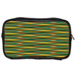 Diagonal Stripes Pattern Toiletries Bag (one Side) by LalyLauraFLM