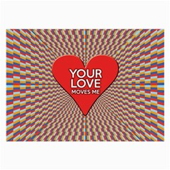 Your Love Moves Me Large Glasses Cloth (2 Side) by theimagezone