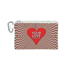Your Love Moves Me Canvas Cosmetic Bag (s) by theimagezone