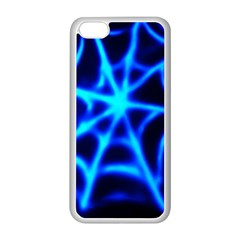 Neon Web Apple Iphone 5c Seamless Case (white) by rzer0x