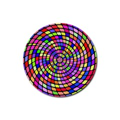 Colorful Whirlpool Rubber Coaster (round) by LalyLauraFLM