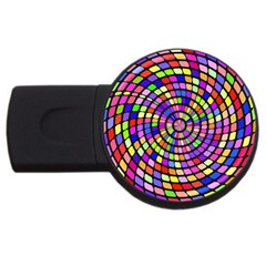 Colorful Whirlpool Usb Flash Drive Round (2 Gb) by LalyLauraFLM
