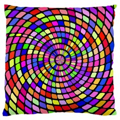 Colorful Whirlpool Large Cushion Case (two Sides) by LalyLauraFLM