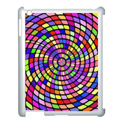 Colorful whirlpool Apple iPad 3/4 Case (White) by LalyLauraFLM