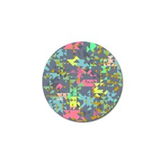 Pastel Scattered Pieces Golf Ball Marker by LalyLauraFLM
