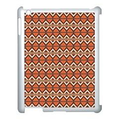 Brown Orange Rhombus Pattern Apple Ipad 3/4 Case (white) by LalyLauraFLM