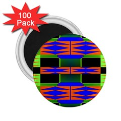 Distorted Shapes Pattern 2 25  Magnet (100 Pack)  by LalyLauraFLM