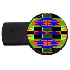 Distorted Shapes Pattern Usb Flash Drive Round (2 Gb) by LalyLauraFLM