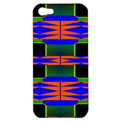 Distorted Shapes Pattern Apple Iphone 5 Hardshell Case by LalyLauraFLM