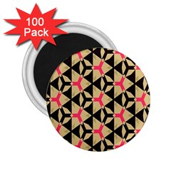 Shapes In Triangles Pattern 2 25  Magnet (100 Pack)  by LalyLauraFLM