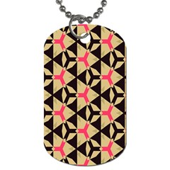 Shapes In Triangles Pattern Dog Tag (two Sides) by LalyLauraFLM