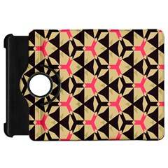 Shapes In Triangles Pattern Kindle Fire Hd Flip 360 Case by LalyLauraFLM