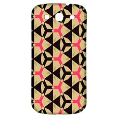 Shapes In Triangles Pattern Samsung Galaxy S3 S Iii Classic Hardshell Back Case by LalyLauraFLM