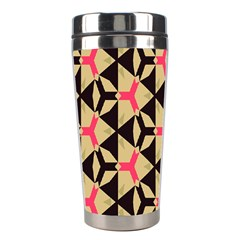 Shapes In Triangles Pattern Stainless Steel Travel Tumbler by LalyLauraFLM