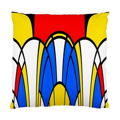 Colorful Distorted Shapes Standard Cushion Case (two Sides) by LalyLauraFLM