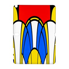 Colorful Distorted Shapes Samsung Galaxy Note 10 1 (p600) Hardshell Case by LalyLauraFLM