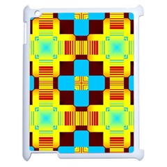 Abstract Yellow Flowers Apple Ipad 2 Case (white) by LalyLauraFLM