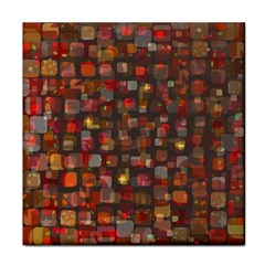 Floating Squares Tile Coaster by LalyLauraFLM