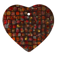 Floating Squares Ornament (heart) by LalyLauraFLM