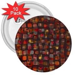Floating Squares 3  Button (10 Pack) by LalyLauraFLM