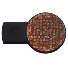 Floating Squares Usb Flash Drive Round (2 Gb) by LalyLauraFLM