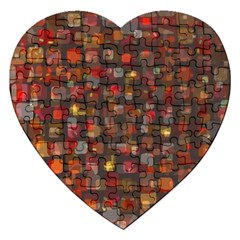 Floating squares Jigsaw Puzzle (Heart) by LalyLauraFLM