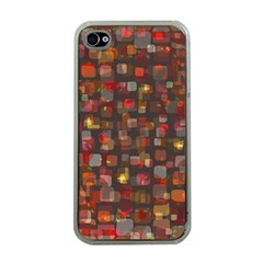 Floating Squares Apple Iphone 4 Case (clear) by LalyLauraFLM