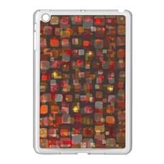 Floating Squares Apple Ipad Mini Case (white) by LalyLauraFLM