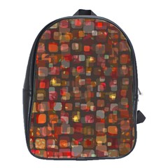 Floating Squares School Bag (xl) by LalyLauraFLM