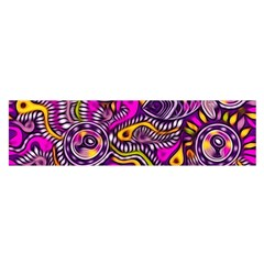 Purple Tribal Abstract Fish Satin Scarf (oblong) by KirstenStarFashion