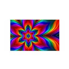 Rainbow Flower Satin Wrap by KirstenStarFashion