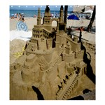 Building Sandcastles  Beach: Graphic Designed Template for Product - Shower Curtain 66  x 72  (Large)