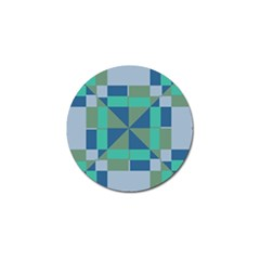 Green Blue Shapes Golf Ball Marker (4 Pack) by LalyLauraFLM