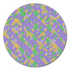 Mixed Shapes Magnet 5  (round) by LalyLauraFLM