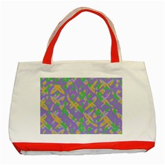 Mixed shapes Classic Tote Bag (Red) by LalyLauraFLM