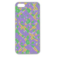 Mixed Shapes Apple Seamless Iphone 5 Case (clear) by LalyLauraFLM
