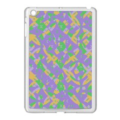 Mixed Shapes Apple Ipad Mini Case (white) by LalyLauraFLM