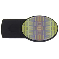 Gradient Rectangles Usb Flash Drive Oval (2 Gb) by LalyLauraFLM