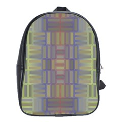 Gradient Rectangles School Bag (xl) by LalyLauraFLM