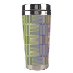 Gradient Rectangles Stainless Steel Travel Tumbler by LalyLauraFLM